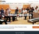 La Coral inaugura su nueva página web